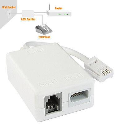 BT ADSL RJ11 Modem Broadband Telephone Filter Splitter Micro Filter Microfilter