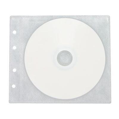 50 CD DVD Double Sided Wallet Refill Plastic Sleeve White Double Sided White Refill Sleeve