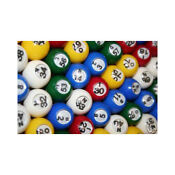 Colored Bingo Balls