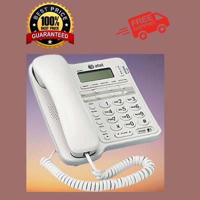 ATT Landline Phone  For Seniors Large Button For Home Wall