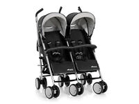 BRAND NEW HAUCK TORRO DUO TWIN DOUBLE BUGGY WITH 2 COSYTOES. SIDE BY SIDE PUSHCHAIR PRAM RAINCOVER