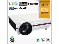 CRE x1500 LED Projector, 1280x720, 720p, 3500 lumens, 4000:1, USB, HDMI, SD