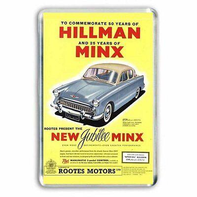 RETRO HILLMAN MINX  JUMBO FRIDGE / LOCKER MAGNET