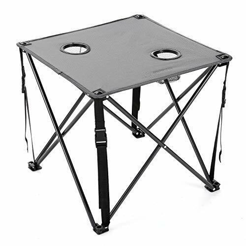 ARROWHEAD outdoor  Heavy-Duty Portable Folding Camping Table-Gray