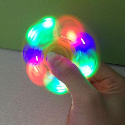 LED light Fidget Hand Spinner Torqbar Brass Finger Toy EDC Focus Gyro as Gift