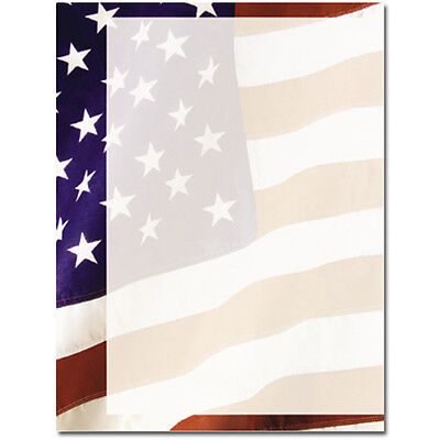 Old Glory Stationery (Old Glory Patriotic Stationery Letterhead - 25 or 80pk )