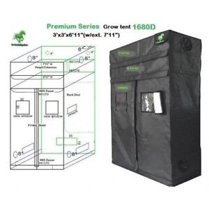 T-Tekhydro PREMIUM GROW TENT 3' x 3' x 6' (with extension 7')