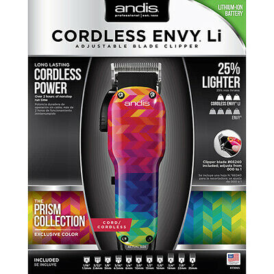 Andis Cordless Envy Li Adjustable Blade Hair Clipper Prism Collection #73065  for sale  Shipping to Canada