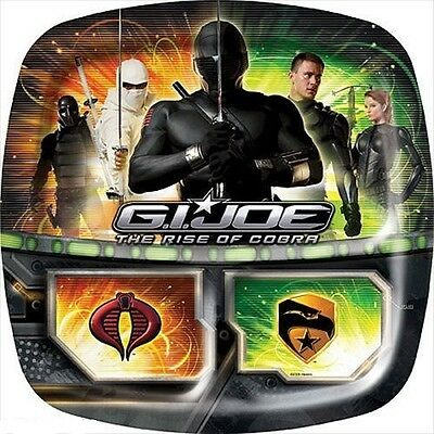 GI JOE Rise of Cobra 16 LUNCH PAPER POCKET PLATES ~ Birthday Party Supplies - Gi Joe Party Supplies