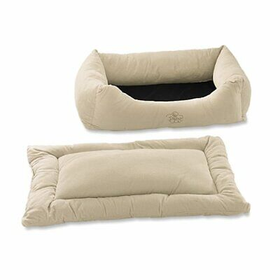 Pet Dreams 2-in-1 Plush Bumper Dog Bed, X-Large, Ivory ()