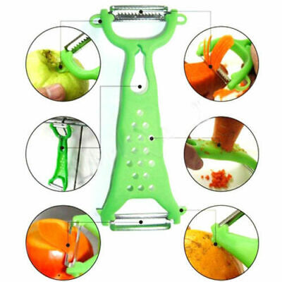 Kitchen Tools Gadgets Vegetable Fruit Peeler Parer Julienne Cutter Slicer Green Home & Garden