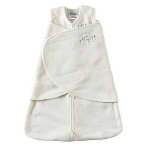 New - HALO SleepSack Swaddle Micro-Fleece - Cream , 0-3months