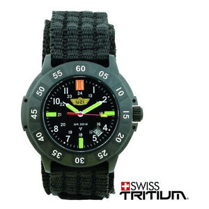 UZI Tritium Protector Watch Black Face Nylon Strap UZI-001-N