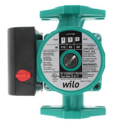Wilo 4105032 Star S 21 F 3-speed Cast Iron Circulator Pump 112 Hp 115v
