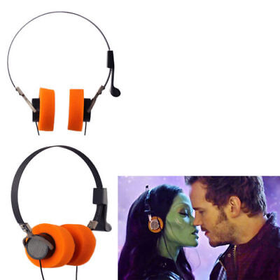 Star Lord V2 Earphone Halloween Cosplay Costume Props Walkman HiFi Party Orange - Halloween Party Star
