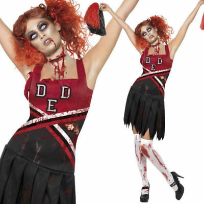 Sexy adult Halloween Costumes Womens Fancy Dress Zombie cheerleader ladies - Womens Adult Halloween Costumes