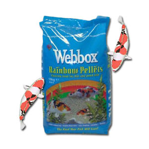 Webbox Floating Rainbow Pond Pellets Koi Carp All Fish Daily Diet Food 10Kg Bag