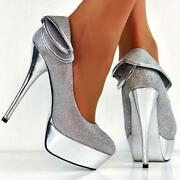 Silver Sparkly Shoes