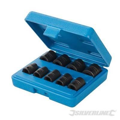 "Silverline Impact Socket Set 3/8"" Drive 6pt Metric 9pce 8 - 19mm 566657"