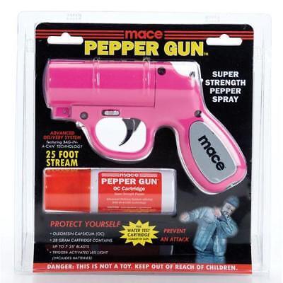 PINK MACE Pepper Spray Gun w/ LED, 20 feet range