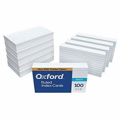 Oxford Ruled Index Cards 3 X 5 White 1000 Cards 10 Packs Of 100 31