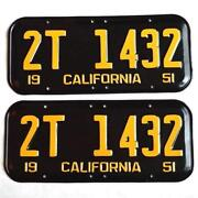 1951 California License Plates