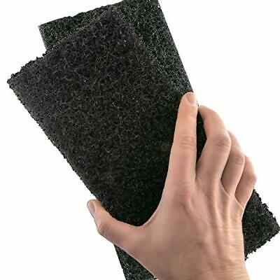 Heavy Duty XL Black Scouring Pad 2 Pack. 10 x 4.5in Large Multipurpose Nylon ...