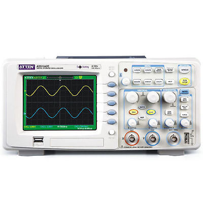 Brand New Atten Ads 1042c Digital Oscilloscope 40mhz 2 Channels 500msas