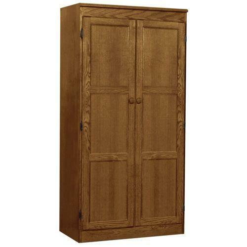 oak kitchen pantry cabinet oak pantry cabinet ebay 23862