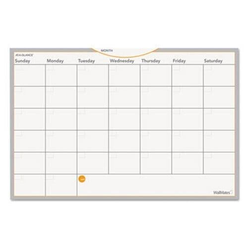 """WallMates Self-Adhesive Whiteboard Monthly Planner, 18"""" x 12"""" (AAGAW402028)"""