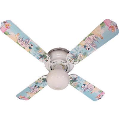 """New PRINCESS PRINCESSES CASTLE Disney Ceiling Fan 42"""""""