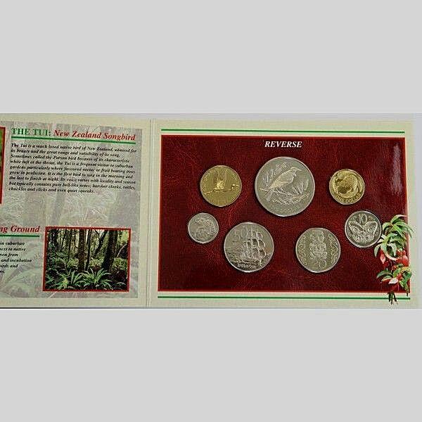 Double Rim Mule Error Coin Set 10 cent Mule 2004 New Zealand