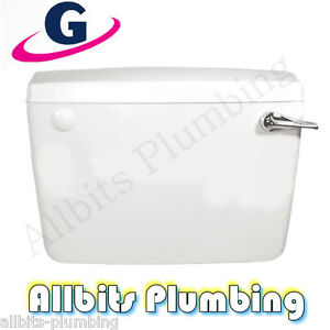 LOW LEVEL SIDE ENTRY FILL PLASTIC PVC WC TOILET FLUSH PIPE TYPE CISTERN SET