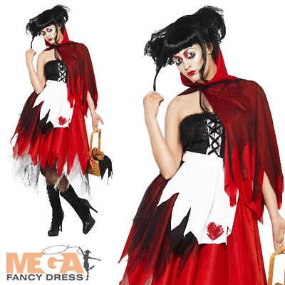 Naughty Red Riding Hood Ladies Fancy Dress Fairy Tale Adults Halloween Costume