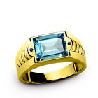 Topaz Band Yellow Gold 10k Rings for Men