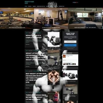 Bodybuilding Store - Professionally Designed Affiliate Website For Sale Domain