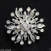 Silver Diamante Brooch