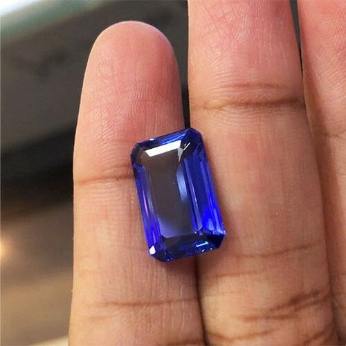 7.87cts AAA++ Top Quality Natural Purple Blue Tanzanite Loose Gemstone
