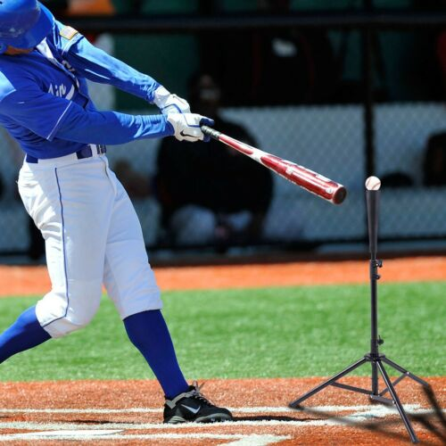 "28/""-44/"" Adjustable Goplus Baseball Tripod Ball Holder Practice Softball Tool US"