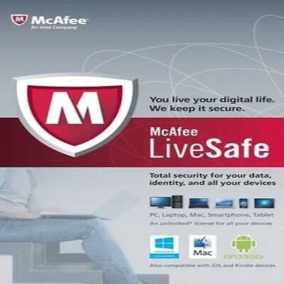 McAfee LiveSafe | 3 Years | Unlimited Devices