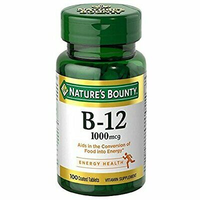 Nature's Bounty Vitamin B12 Supplement, Supports Metabolism Health 100 Tablets