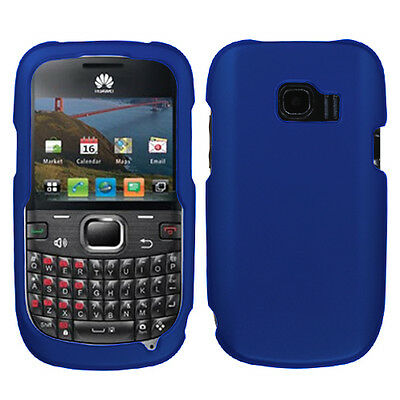 Rubberized Blue Snap - For Huawei Pinnacle 2 Rubberized HARD Protector Case Snap On Phone Cover Blue
