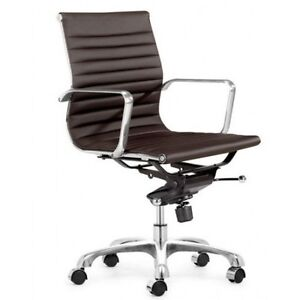 Modern durable leatherette office chair low back eames style ebay