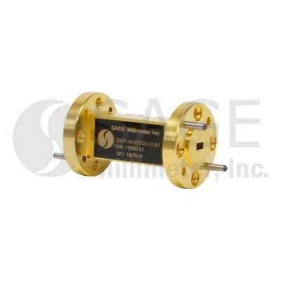 Sage Millimeter Swf-84305350-12-b1 Wr-12 Waveguide Bandpass Filter E Band