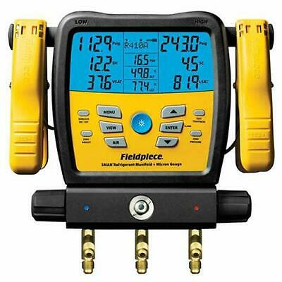 Fieldpiece Sm380v Wireless 3-port Sman Refrigerant Manifold And Micron Gauge