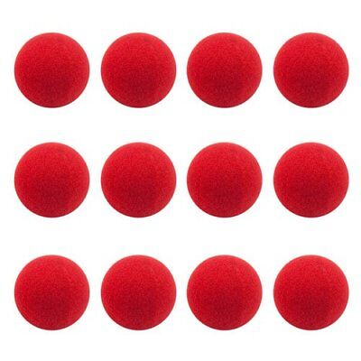 (12-pack Novelty Red Foam Clown Noses, Soft Plush, Rudolph the Red-Nosed Reindeer)