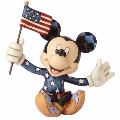 New Enesco Disney Traditions Mini Patriotic Mickey Figurine