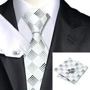 Silk Men's Necktie Cufflinks Neck Tie