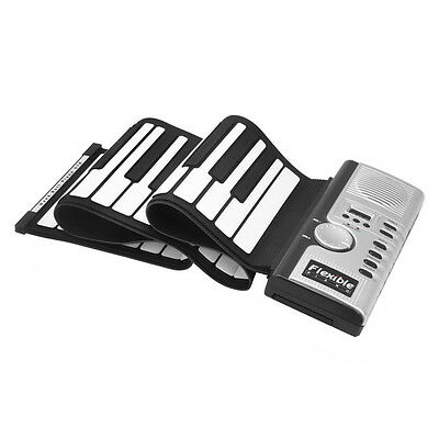 MIDI Roll Up Portable Electronic Keyboard Piano Soft Thick Padded 61 Keys Music