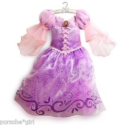 NWT DISNEY STORE COSTUME RUPUNZEL PRINCESS DRESS GOWN 5 6 100% AUTHENTIC